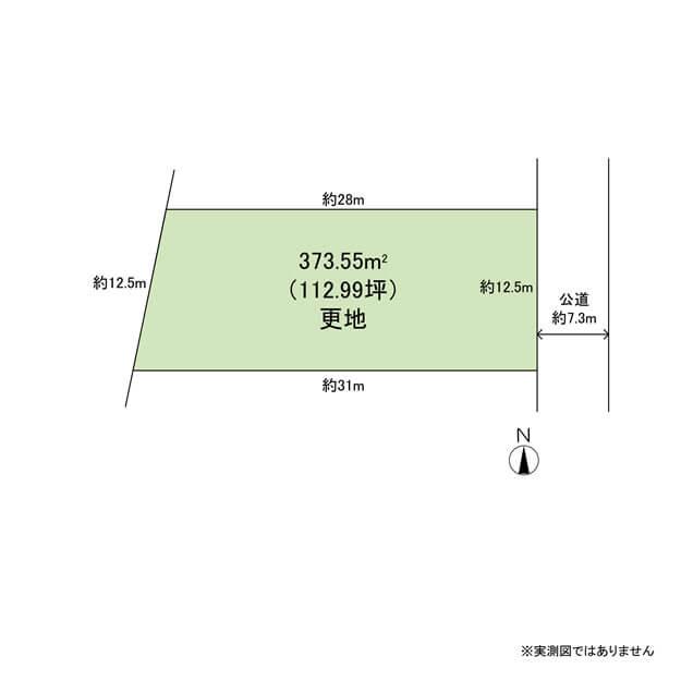 土地・区画図・配置図間取り図サンプル1