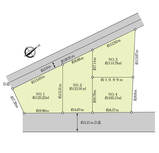 土地・区画図・配置図間取り図サンプル3